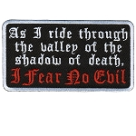 I FEAR NO EVIL Embroidered Patch, p194