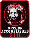 PATCH MISSION ACCOMPLISHED Embroidered Patch, p137