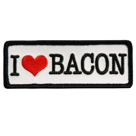 I LOVE BACON Patch, P234