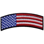 American Flag Rocker Embroidered Patch, p288