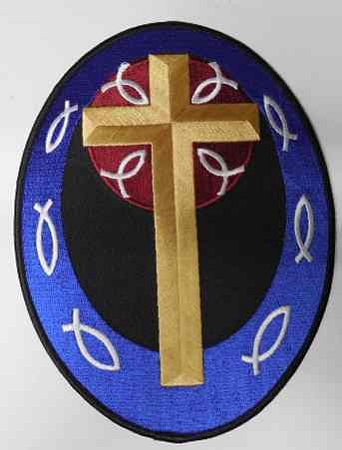 Cross Embroidered Patch, R118L
