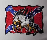 Eagle with confederate flag, p63