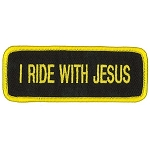 I RIDE WITH JESUS Embroidered Patch, p409