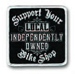 SUPPORT LOCAL BIKE SHOP Embroidered Patch p250