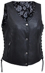 Vest Women's 6890 Black Paisely Liner