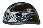 HELMET SKULL AND MULTI SILVER FLAME NOVELTY 6002MSFS