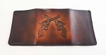 Lutzs Tri-Fold Wallet Crossed Guns
