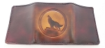 Lutzs Tri-Fold Wallet Howling Wolf