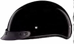 HELMET GLOSS SKULL WITH VISOR DOT D1-A