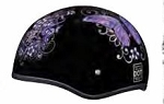 HELMET PURPLE BUTTERFLY DOT  D6-B