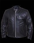 New Scooter Black Leather  Jacket