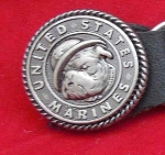 Vest extender Marines Antique Silver Round, VE16