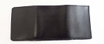 Lutzs Black Leather Tri-fold Wallet