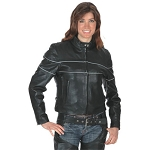 Ladies Leather Scooter Jacket, 563.go