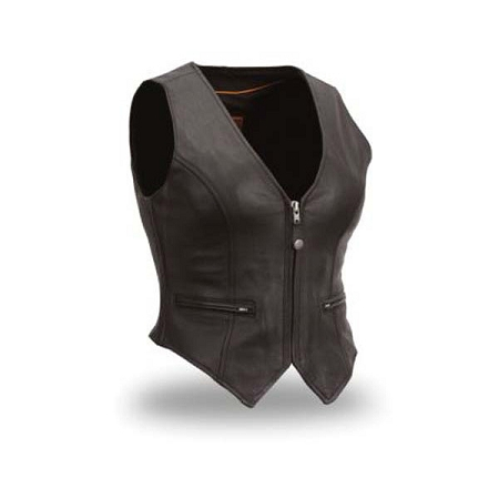 Soft Milled, fitted Leather Vest, FIL535