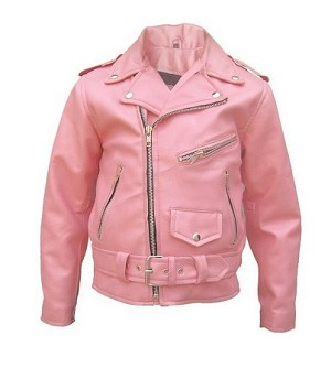 AL2803 Basic Motorcycle Jacket Medium Pink