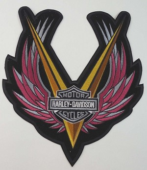 Harley Davidson Iron Wings Embroidered Patch, HD124