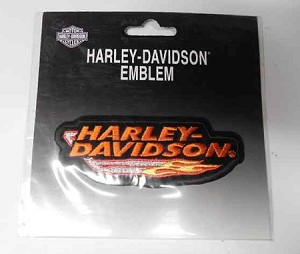 Harley-Davidson Exhaust Flames Patch, HD112