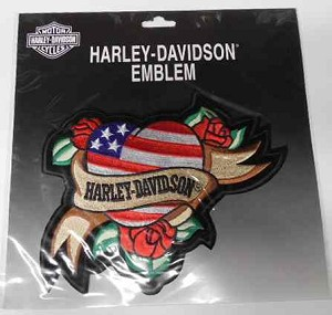 Harley-Davidson Heart w/Roses Emblem Patch, HD122
