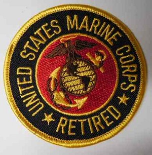 United States Marine Corps Retired Patch, PM0258