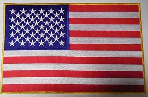 American Flag Gold Outline, P623