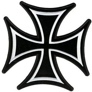 Iron Cross Embroidered Biker Patch, p629