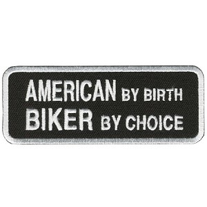 AMERICAN BIKER BY CHOICE Embroidered Patch, p433