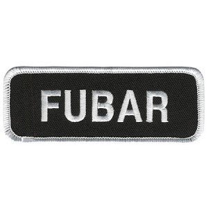 FUBAR Embroidered Patch, p485