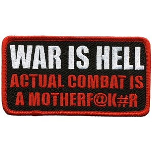 WAR IS HELL Embroidered Patch, p171