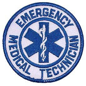 EMERGENCY MEDICAL TECHNICIAN LOGO embroidered patch, p139