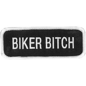 BIKER BITCH Embroidered Patch, p486